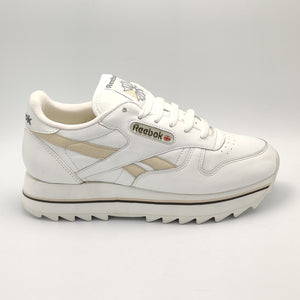 Reebok Womens Classic Leather Double Retro Trainers - White/Gold - UK 4.5