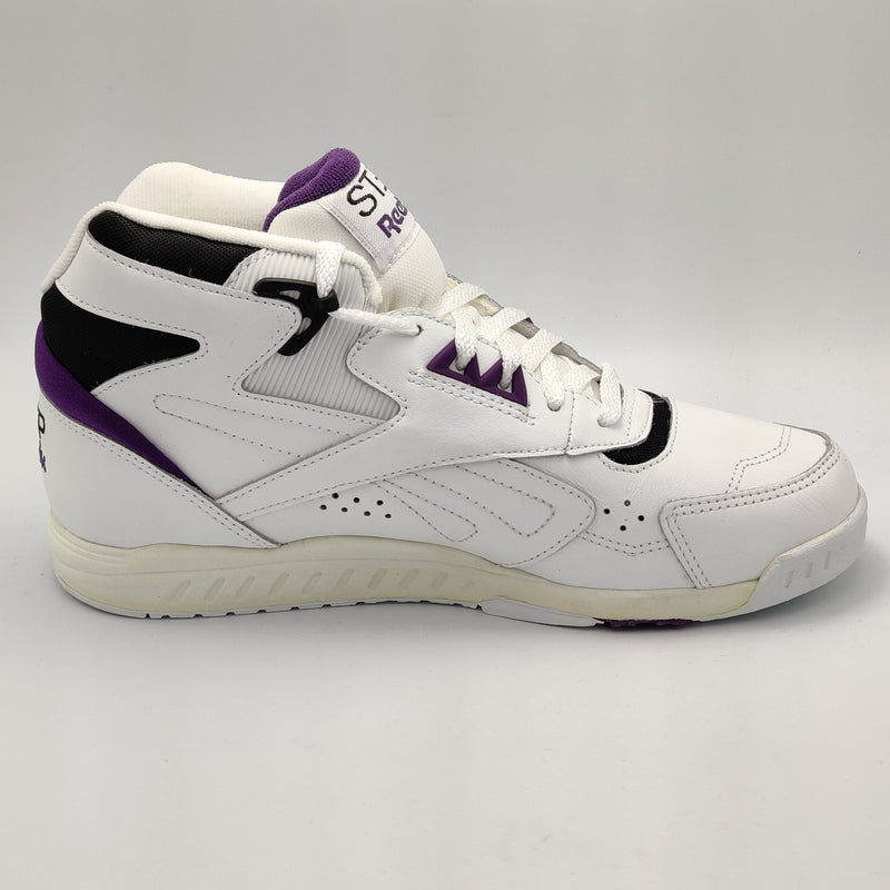 Reebok Womens Step Trainer High-Cut Retro Shoes - White - UK 4.5