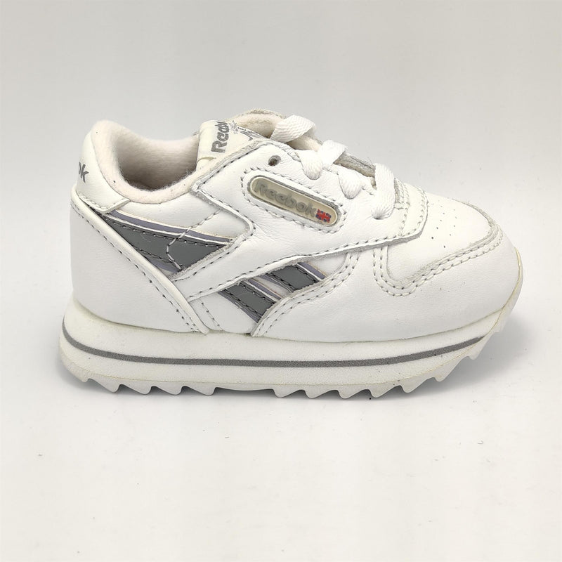 Reebok Infant Classic Leather Double Retro Trainers - White - UK K3.5