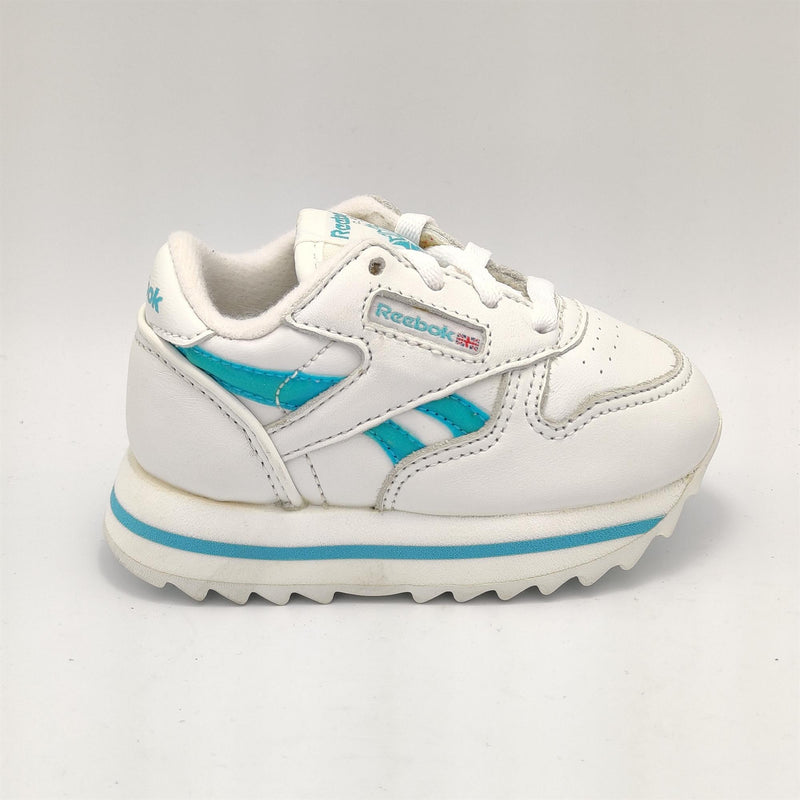 Reebok Infant Classic Leather Cosmic Retro Trainers - White - UK K3.5
