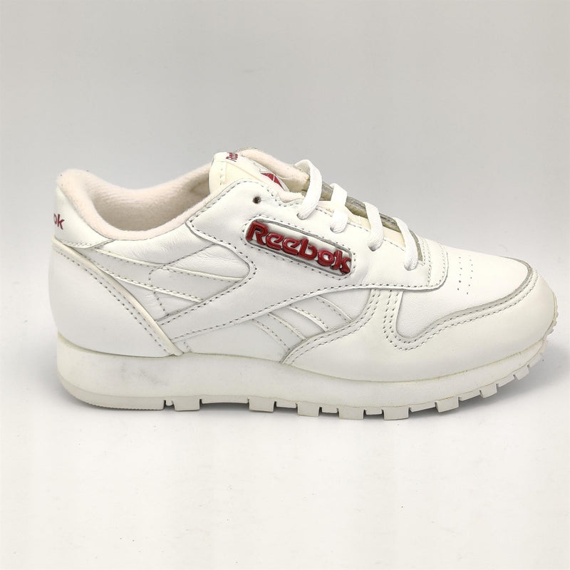 Reebok Infant Classic Leather D Label Retro Trainers - White - UK K12.5