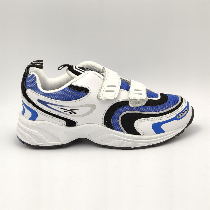Reebok Infant Classic Retro Cushioned Trainers - White/Blue - UK K12.5