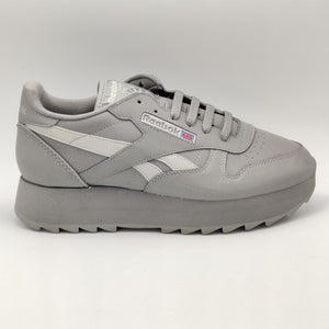 Reebok Classic Leather Dubble Mirror Retro Trainers - Grey - UK 4.5