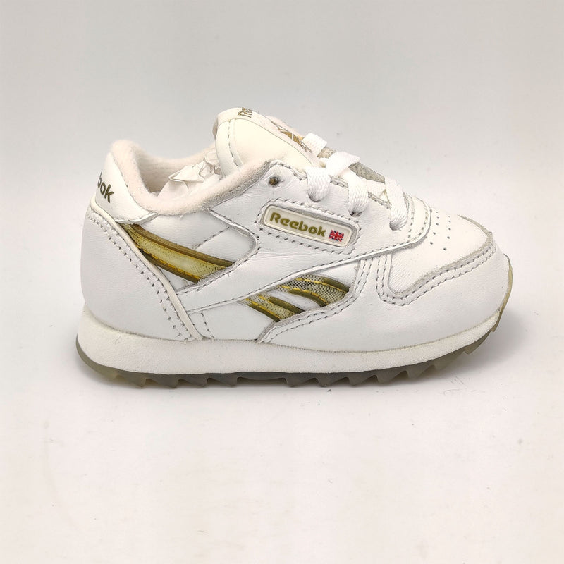 Reebok Classic Leather Junior Flow Gradiated Shoes - White - UK K3.5