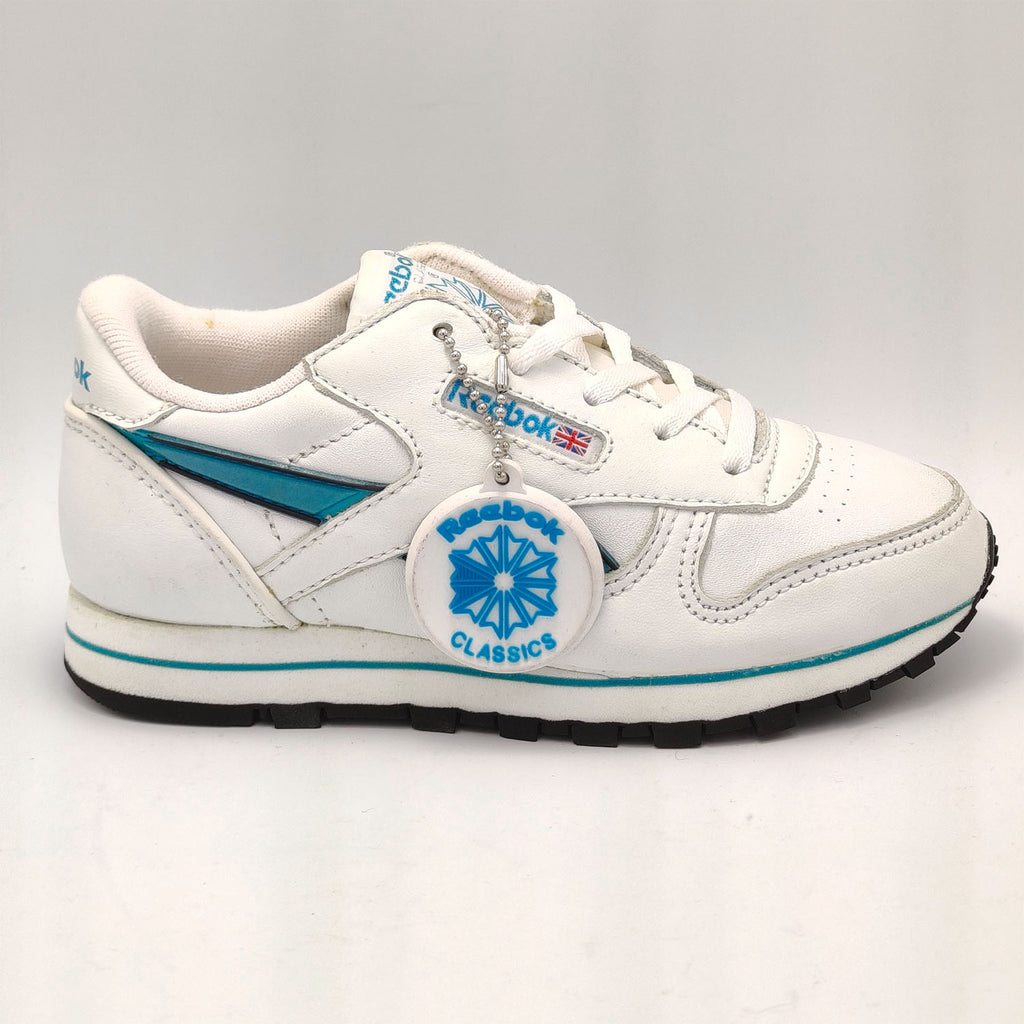 Reebok Classic Leather Junior Glow Shoes - White - UK K12.5