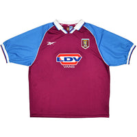 Aston Villa Mens Retro Original 1998-1999 Home T-Shirt - XL - 46/48""