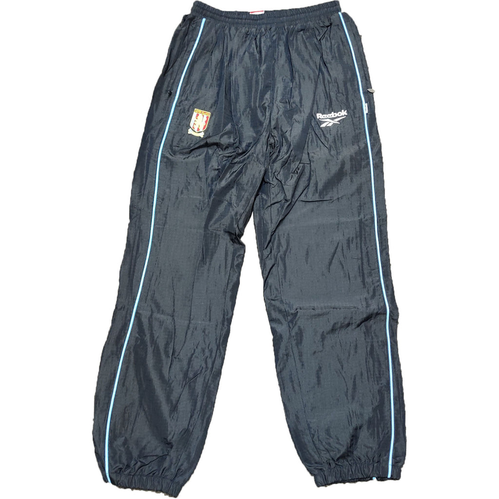 Aston Villa Mens Retro Original Mid 90's Track Pants - Large