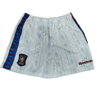 Aston Villa Mens Retro Original 1995-1997 Home Shorts - XL