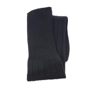 Plain Football Rugby Premium Socks - Made In UK - BLACK - JUNIOR ( UK 13-5)