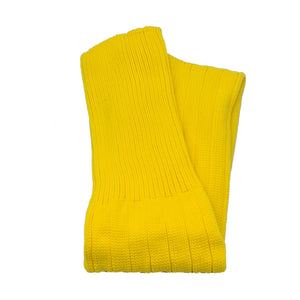 Plain Football Rugby Premium Socks - Made In UK - YELLOW - JUNIOR ( UK 13-5)