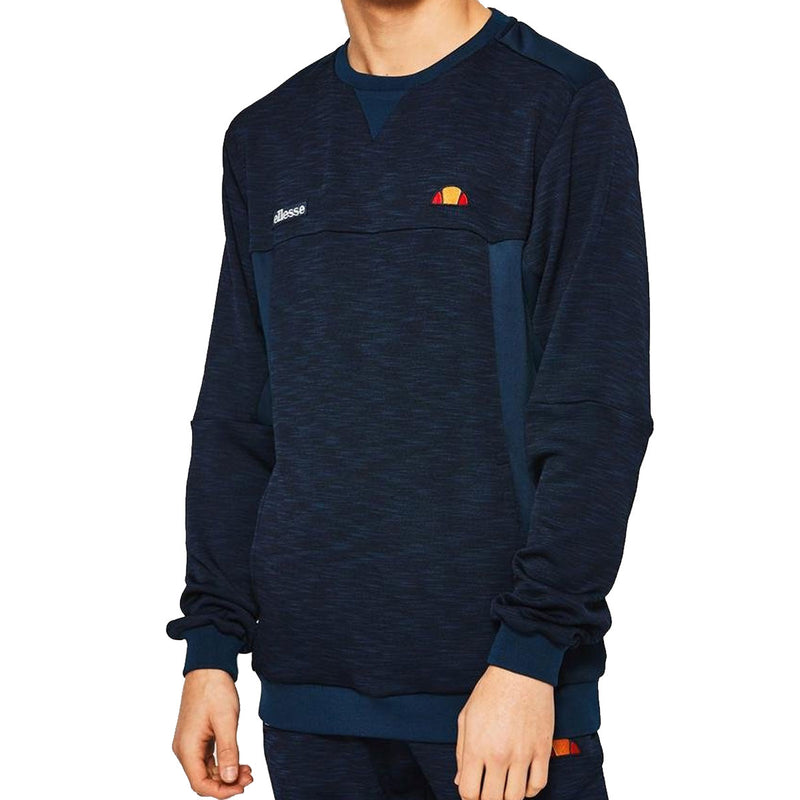 Ellesse Mens Paterazzo Crew Neck Sweatshirt - Navy - Large
