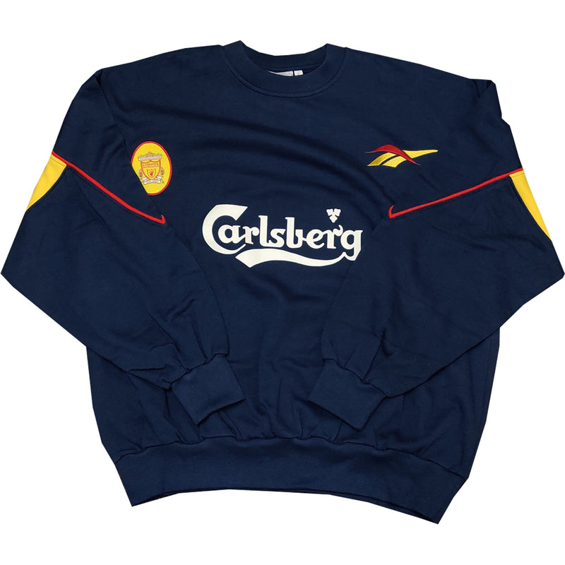 Liverpool Mens Retro Original Mid 90's Sweatshirt - Navy - Large