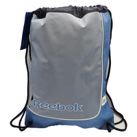 Reebok Unisex Contrast Stripe Retro Drawstring Bag - Blue/Grey