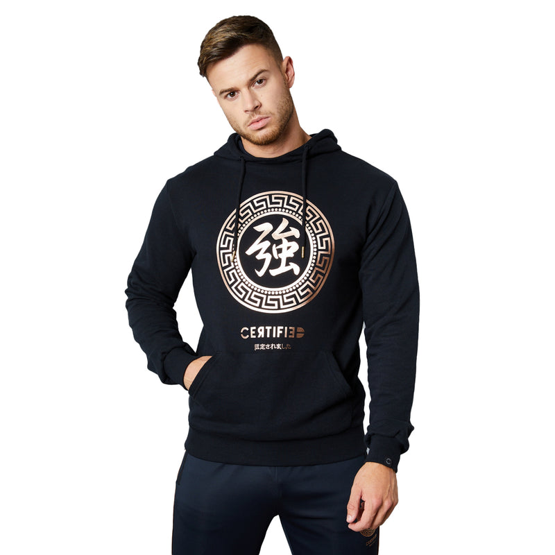 Certified London Mens Iwaki Over Head Hoodie