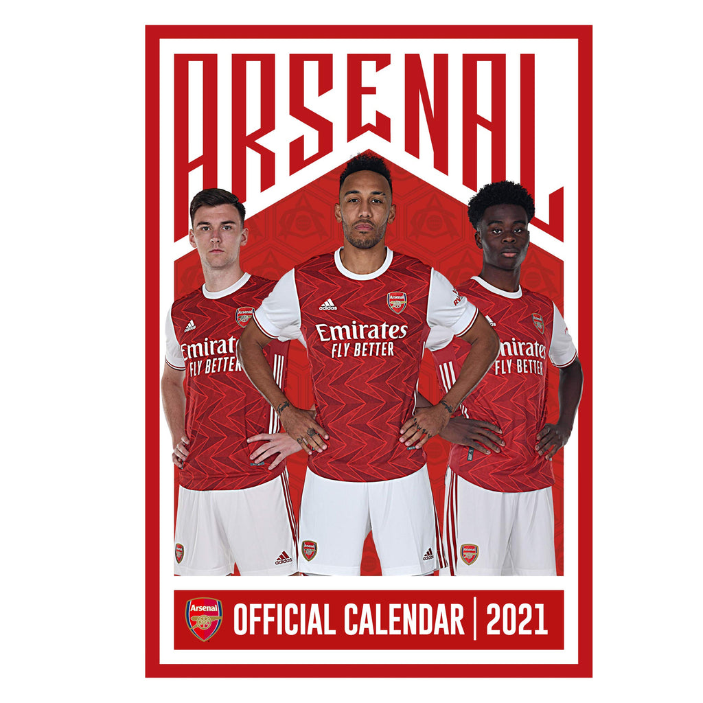 Arsenal Official A3 Supporters 2021 Calendar - RRP £9.99