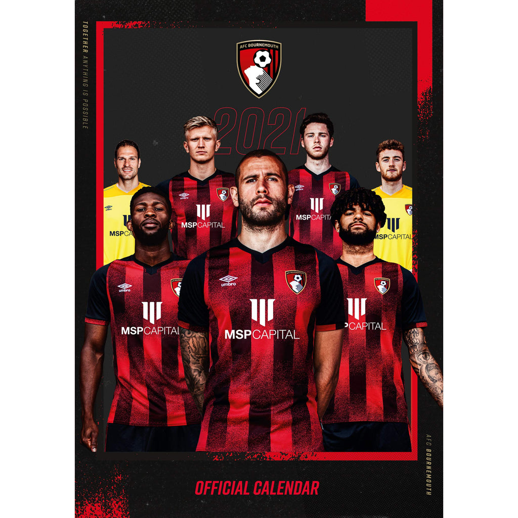 Bournemouth Official A3 Supporters 2021 Calendar - RRP £9.99