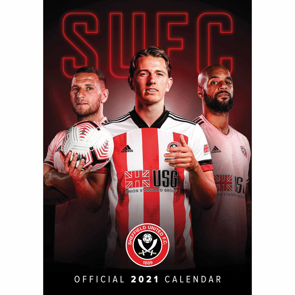 Sheffield United Official A3 Supporters 2021 Calendar - RRP £9.99