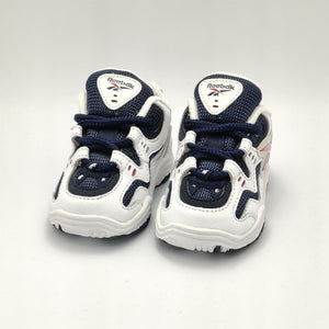 Reebok Infant Classic Retro Trainers - White/Navy - UK K3.5
