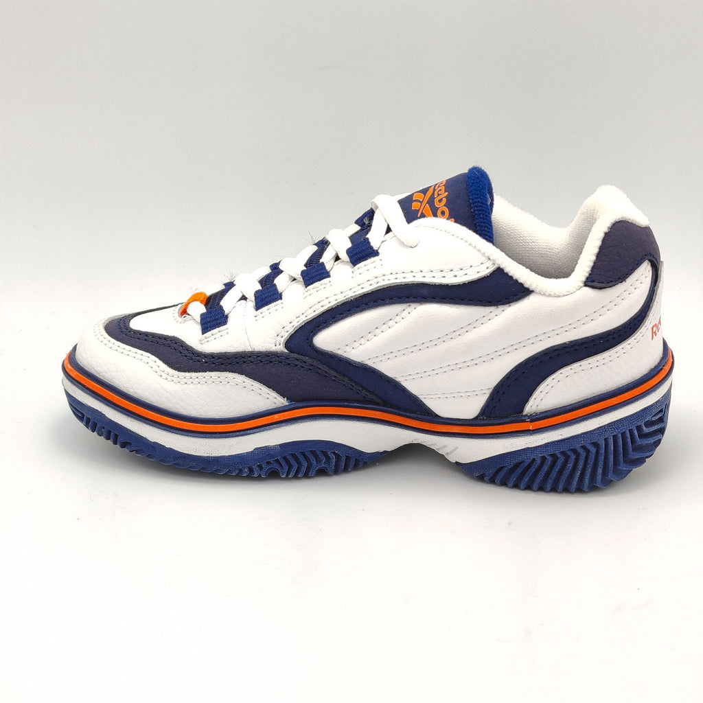 Reebok Classic Smash Junior Shoes - White/Blue - UK K12.5
