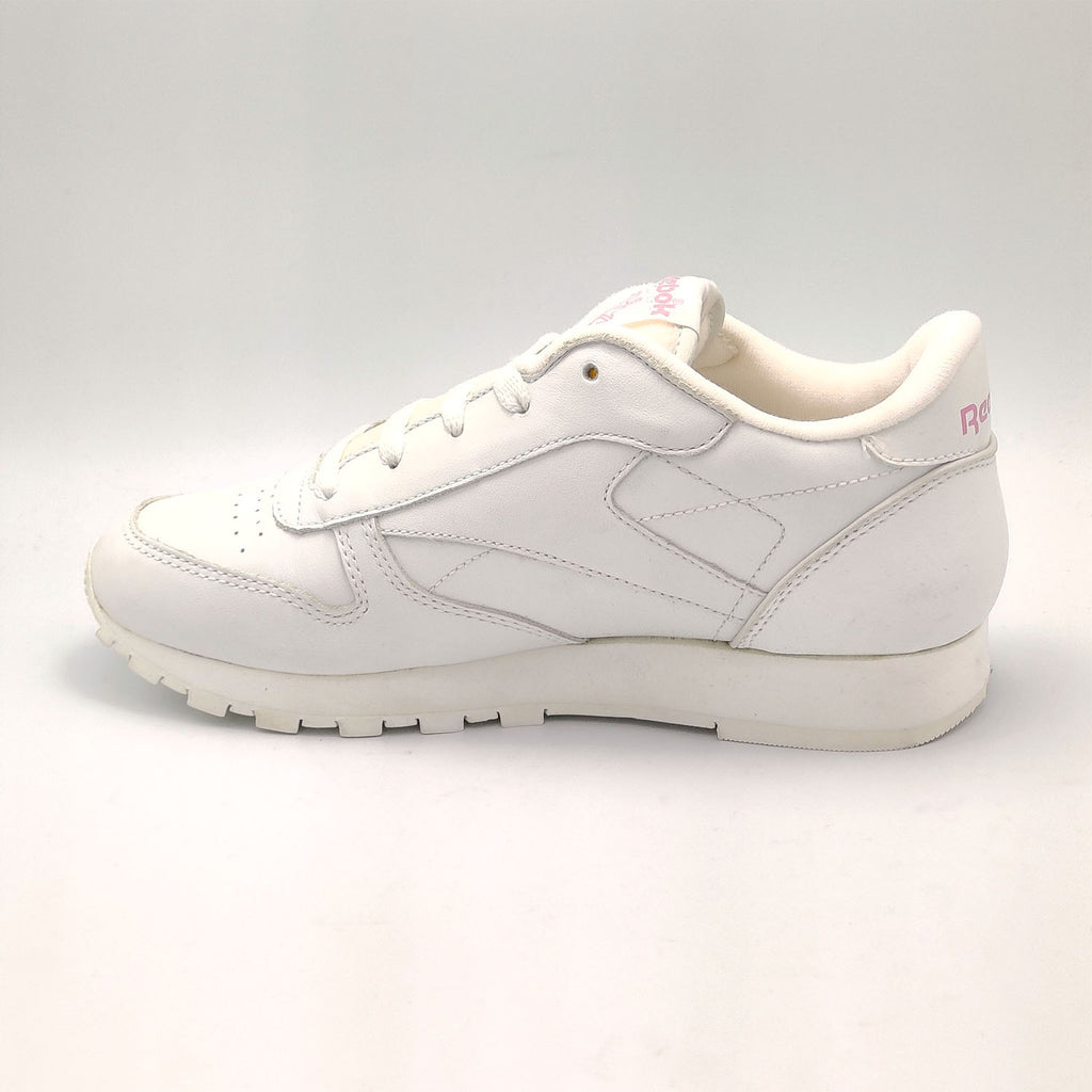 Reebok Classic Leather Birthstone Junior Shoes - White/Pink - UK 3.5 - Faulty