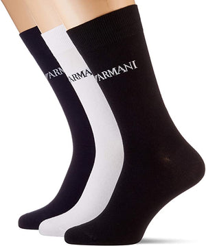 Emporio Armani Mens 302402-0P254 3 Pack Cotton Trainer Socks