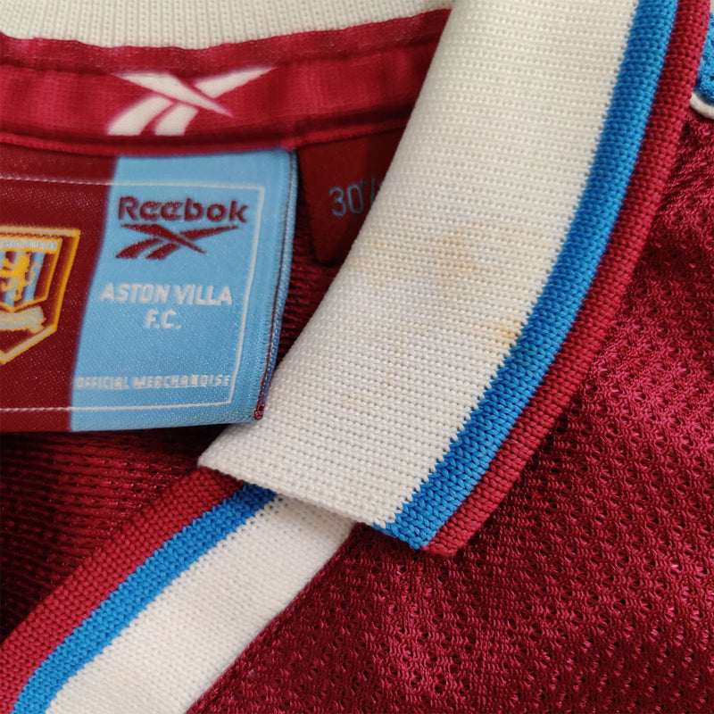 Aston Villa Juniors Retro Original 1998-1999 Home T-Shirt - 11/12 Years - 30/32""