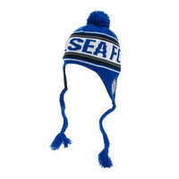 Chelsea FC Official Text Peruvian Beanie - Royal