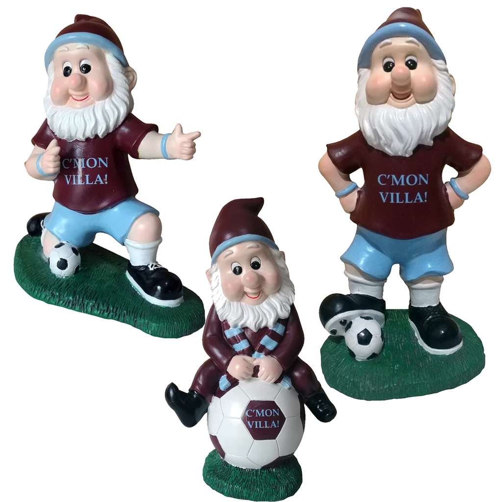 CMON Villa Aston Villa Colours Football Fan Garden Gnome