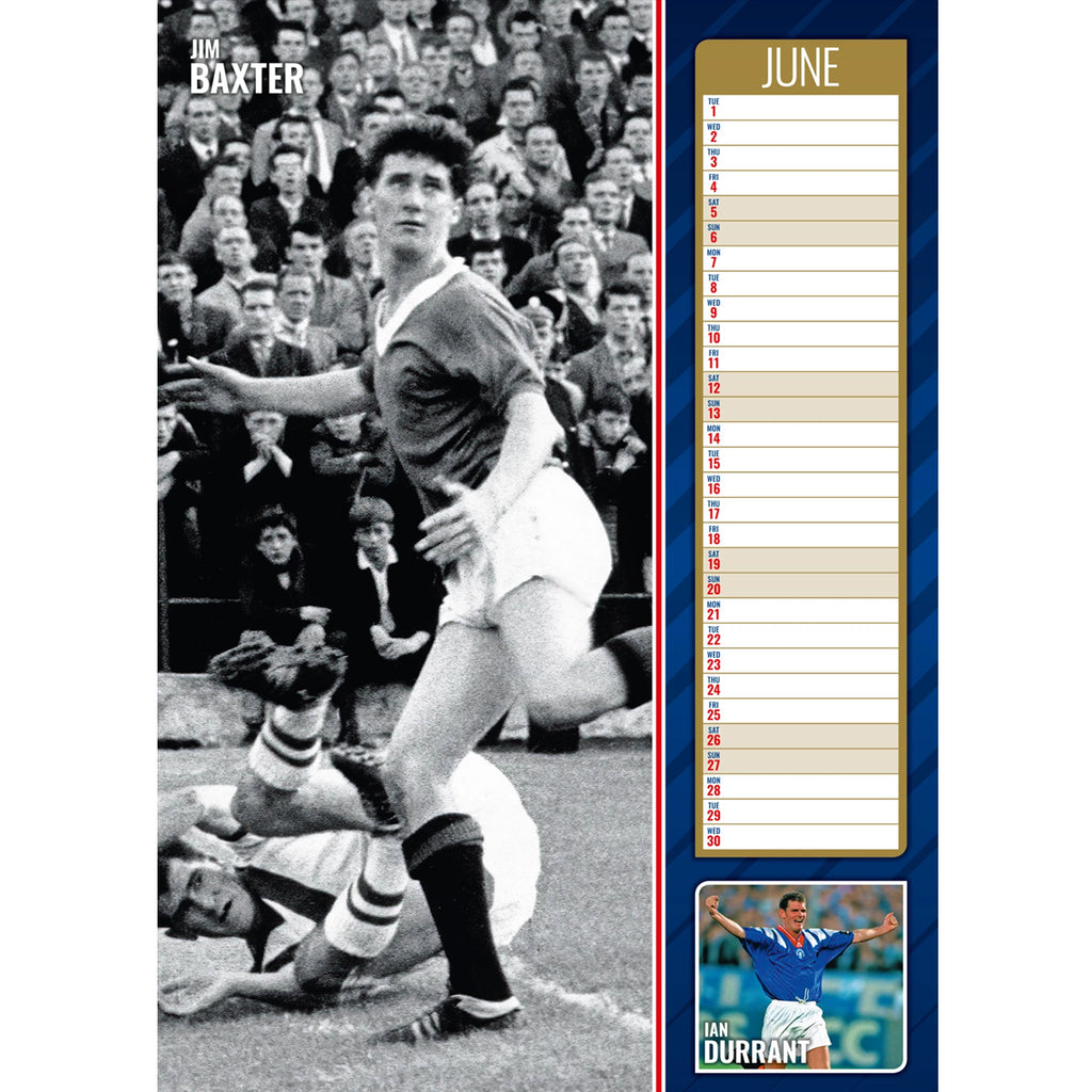 Glasgow Rangers Official A3 Supporters 2021 Calendar - RRP £9.99