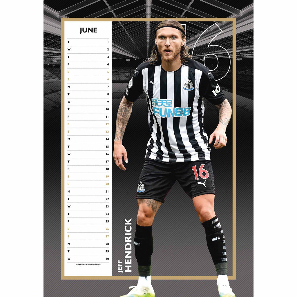 Newcastle Official A3 Supporters 2021 Calendar - RRP £9.99