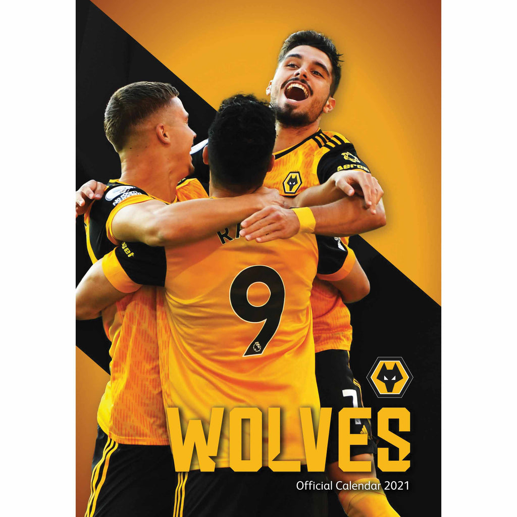 Wolverhampton Wanderers Official A3 Supporters 2021 Calendar - RRP £9.99