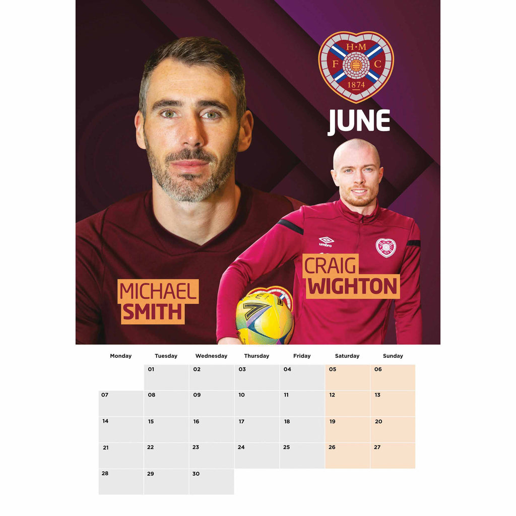 Hearts Official A3 Supporters 2021 Calendar - RRP £9.99