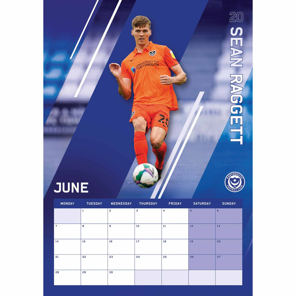 Portsmouth Official A3 Supporters 2021 Calendar - RRP £9.99