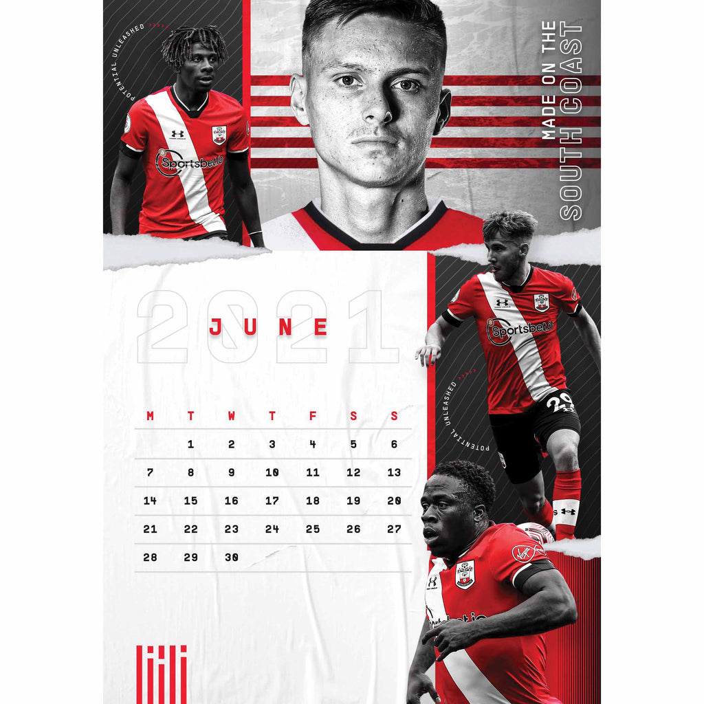 Southampton FC Official A3 Supporters 2021 Calendar - RRP £9.99