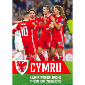 Wales National Football A3 Official Supporters Calendar 2020