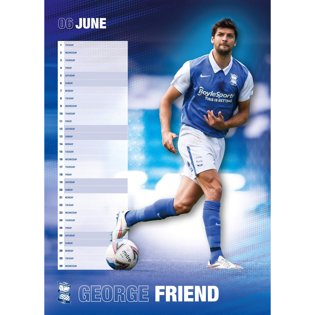 Brmingham City Official A3 Supporters 2021 Calendar - RRP £9.99