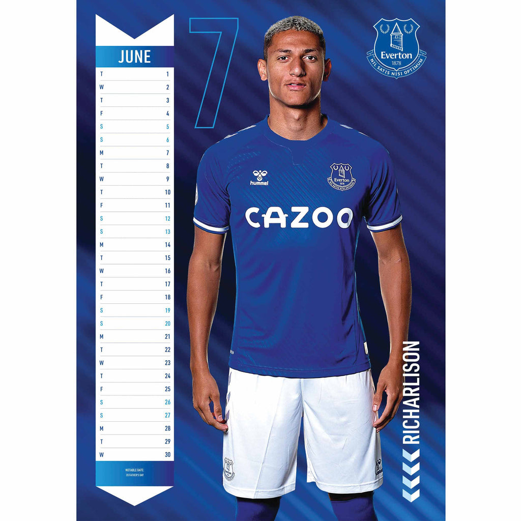 Everton FC Official A3 Supporters 2021 Calendar - RRP £9.99