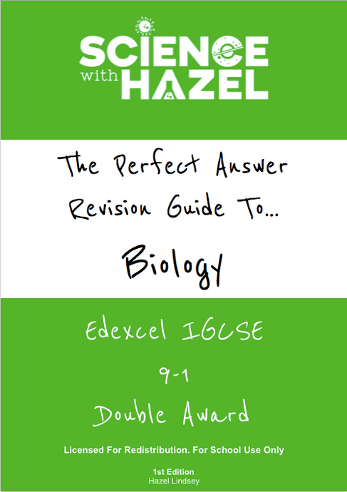 The Perfect Answer Revision Guide - Edexcel IGCSE Biology 9-1 (Double Award): School Licence
