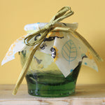 Beeswax Food Wraps used on a jar