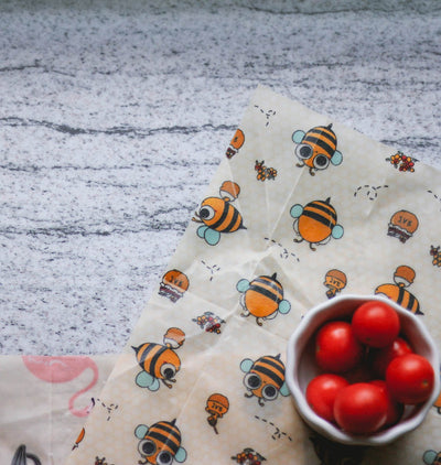 Beeswax Food Wrap – Pack of 3 - 'Birds and the Bees'