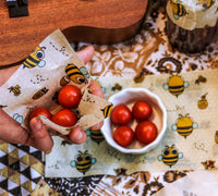 Beeswax Food Wrap – Pack of 3 - 'Birds and the Bees' picture
