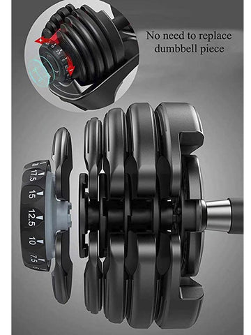 24kg Adjustable Dumbbell Set