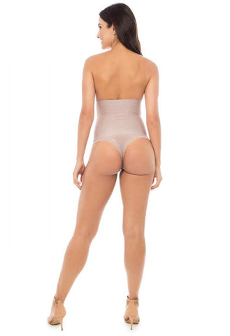 Shades - Lacy High Waist Panties Gloss Plié Shapewear