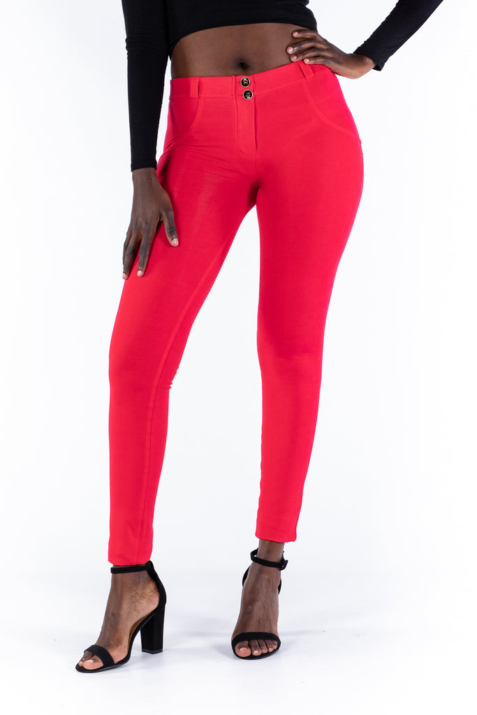 Butt lifting Jeggings - Coral red