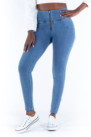 High waist Butt lifting Jeggings - Light blue