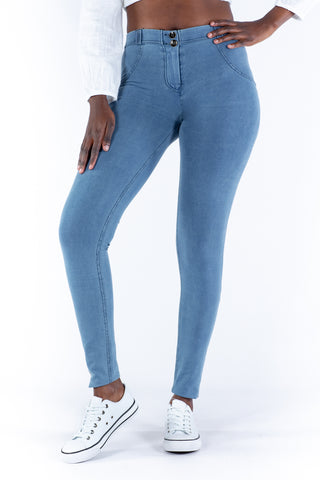 Image of Light blue low waist