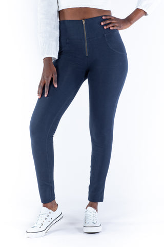 Image of High waist Butt lifting Jeggings - Navy