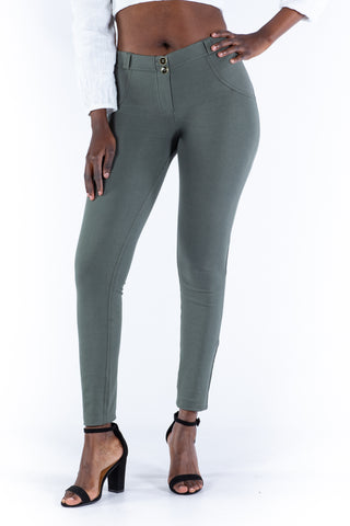 Image of Butt lifting Jeggings - Olive