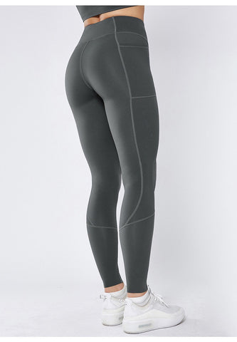 Image of Smoothie Control Leggings with cell pocket - Grey
