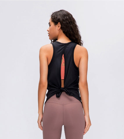 Flow Loose-fit Vest- Black
